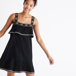 Madewell embroidered tier dress, size M